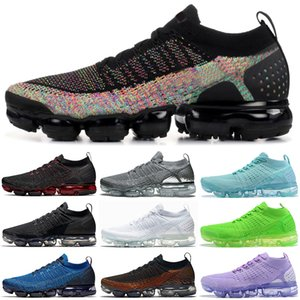 Wholesale Discount Fly Running shoes Knit men women Volt Triple black white Hot Punch Olympic Breathable designer mens trainers sneakers sports