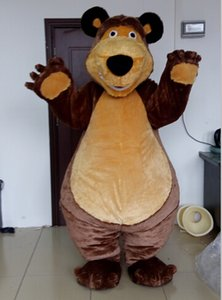 free shipping high quality Masha bear mascot costume for kids party use