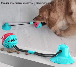Pet products suction cup chew dog toys molar food leakage device bite ball resistant pet molar