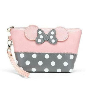 New Kids Girls Clutch Bag Mini Leather Travel Coin Card Bag For Lady Pouch Purse Stationery Beauty Case Bags With Cute Bow