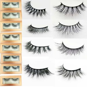 Wholesale false eyelashes human hair resale online - mink d lashes human hair lashes with SOFT band faux mink eyelashes eyelash False Eye Lashes d Mink eyelashes