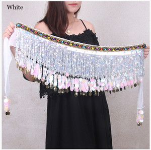 Wholesale Belly Dance Accessories Women Dance Belt Gold Coins Hip Scarf Girls Performance Costumes