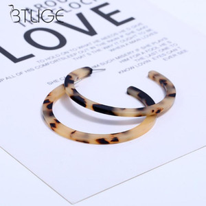 Wholesale Vintage Circle Hoop EarringS For Women Leopard Print Resin Geometric Big Earring Fashion Jewelry Gift Acetate Acrylic