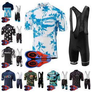 Morvelo team Cycling Short Sleeves jersey bib shorts sets men short sleeve bib shorts outdoor sports jersey sets cycling equipment S82320