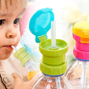 Wholesale Hotsale Child Safe Drink Straw Portable Spill Proof Juice Soda Water Bottle Twist Cover Cap With straw Sippy Cap Feeding for Kids Infant