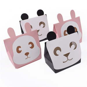 Wholesale baby shower greeting cards resale online - Cute Animal Panda Rabbit Candy Bags Cookie Bags Gift Bags Greeting Cards Baby Shower Birthday Party Candy Box CT0242