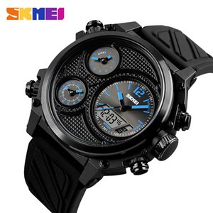 Wholesale chrono chronograph resale online - SKMEI Sports Men Watches Time Alarm Chrono EL Light Fashion Wristwatches M Waterproof Week Date Watch relogio masculino