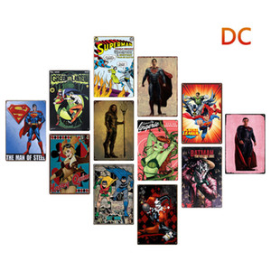 Wholesale comic art painting resale online - 20 cm DC Comics hero Metal Tin Signs Vintage Posters Old Wall Metal Plaque Club Wall Home art metal Painting Wall Decor Art Pictures