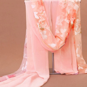 Wholesale Beach towel and silk scarf women s new long chiffon of Korean printed scarf shawl beach towel