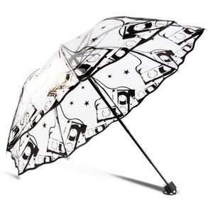 Wholesale Clear Cute Bubble Deep Dome Umbrella Wind Resistance Arch Umbrella Transparent Mushroom Shaped Weeding Decoration Party Parasol Waterproof