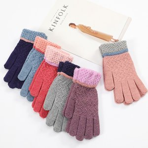 Wholesale Winter Gloves Women Men Full Finger Hand Warmer Touch Screen Gants Male Knit Wool Thick Mittens Guantes de Invierno Warm Knit Mitten Gloves