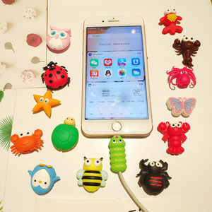 Wholesale Data Line Protector Bite Cartoon Winder Cable Insects Animals Bite Protector for USB Cable Phone Accessory Insects Cute Designs