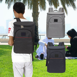 Wholesale 18L Wine Cooler Backpack Zipper Oxford Fabric Large Capacity Storage Insulated Lunch Tote Unisex Ice Pack Hand Bag Travel