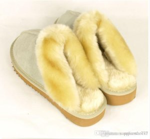 Wholesale 2018 HOT slippers warm Warm cotton slippers Men Womens slipper Womens boots Snow boots Brand Designer Indoor cotton slippers Leather slipper