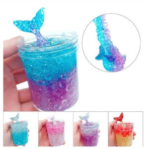 Wholesale 120ml DIY Soft Cotton Ocean Fish Tail Puff Slimme Putty Scented Stress Kids Clay Crystal Mud Toy Clay Slimee