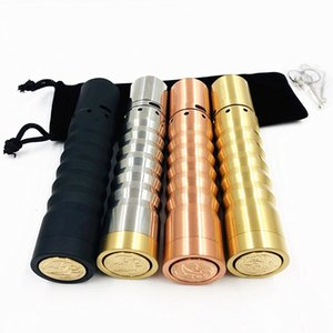 Wholesale copper mod resale online - Newest Kennedy Vindicator Mech mod Kit Battery mm diamater brass red copper vape Mod rda rdta KIT