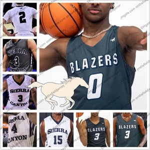Wholesale Custom Sierra Canyon High School Bronny James LeBron James Jr Zaire Wade BJ Boston Jr Mens Youths Basketball Jerseys S XL