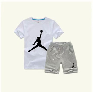 Wholesale 2019 HOT SELL classic New Style years Children s Clothing For Boys And Girls Sports Suit Baby Infant Short Sleeve Clothes Kids Set