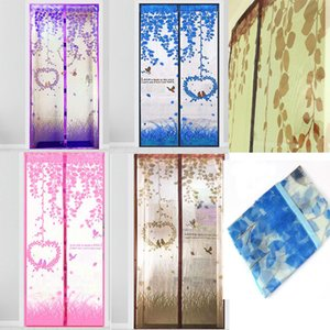 Wholesale 50pcs35 inch Magnetic Curtains Mosquito Net on the Door Mesh with Magnets Insect Screen Fly Bug Insect Mosquito Sheer Curtains