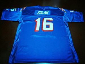 Wholesale Men WHITE BLUE Scott Zolak #16 1990 College Jersey size s-XXXL or custom any name or number jersey