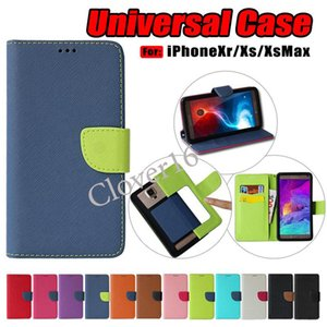 Wholesale Universal case PU Leather Flip Wallet Belt Buckle Universal Cover Case For inch phone cases size to choose