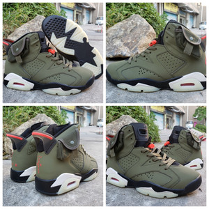 Wholesale 2019 New Arrived Travis Scotts OG Cactus Jack Glow In Dark M Reflective Army Green Men Designer Basketball Shoes s Sports Sneakers