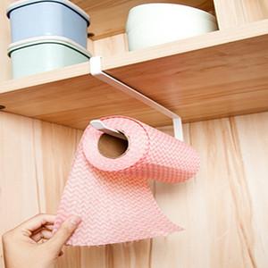 Bathroom Roll Toilet Paper Holder Paper Towel Rack Iron Holder Hanging Cabinet Door Hanger Floating Shelf Kitchen