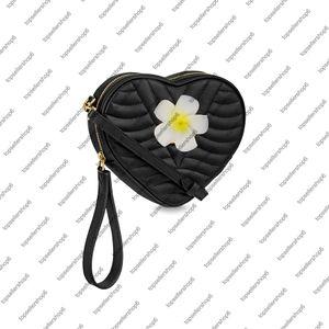WAVE HEART BAG Women lady calf leather handbag purse crossbody clutch wristlet evening bag shoulder bag