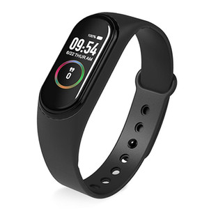 Wholesale New M4 Smart Band Wristband Watch Fitness Tracker Bracelet Color Touch Sport Heart Rate Blood Pressure Monitor Men Women Android