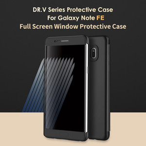 Wholesale For Samsung Galaxy Note Case ROCK Dr V Luxury Smart View Full Window Flip Case For Samsung Note FE TPU PC Phone Covers