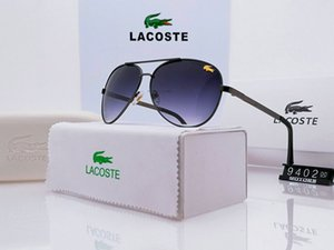 Wholesale The crocodile High Quality Aluminum Magnesium Men s Polarized Sunglasses Large Frame Driver Driving Toad Mirror with original box