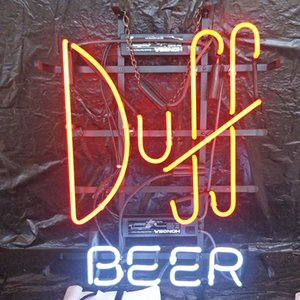 Duff BEER LED Neon Sign Light Custom Outdoor Bar Club Display Entertainment Decoration Neon Lamp Light Metal Frame 17'' 20'' 24'' 30''