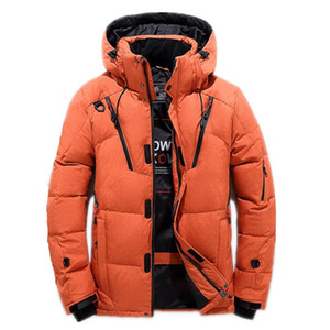 Wholesale High Quality Men S Winter Jacket Thick Snow Parka Overcoat White Duck Down Jacket Men Wind Breaker Brand Down Coat Size M XL