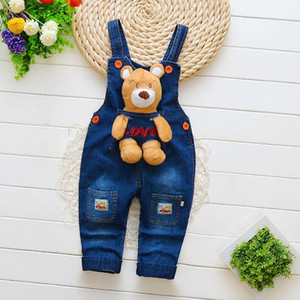 Cute Baby Boy Girls Denim Overalls Children Jeans Jumpsuit Kids Clothes Toddler Pants Rompers Salopette Fille Dungarees Multicolors on Sale