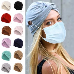 11 Color Anti-Lee Button Turban Hat Baotou Hat Sunscreen Hat Baotou Sleeping Cap Hot Sale XD23521