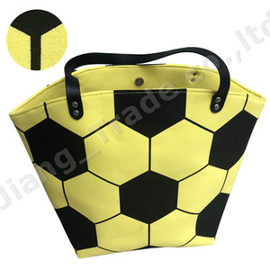Wholesale Large Capacity Sports Tote White Yellow Football Bags Soccer Handbag Unisex Men Women Kids Cotton Canvas Designer Shoulder Bag A52004