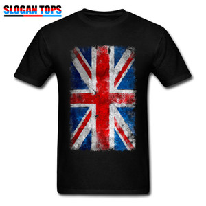 Wholesale British Flag Tshirt Men Union Jack Tshirts Print Vintage Shirts Guys O Neck T Shirt Summer Tees Short Sleeve New Cotton Clothing