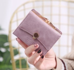 Wholesale Band Fashion Women wallet small three fold PU leather coin wallet fresh multi function women purse female coin purse
