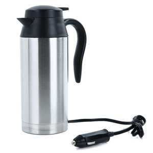 Wholesale electric heated coffee mug for sale - Group buy Stainless Steel V Electric Kettle ml In Car Travel Trip Coffee Tea Heated Mug Motor Hot Water For Car Or Truck Use