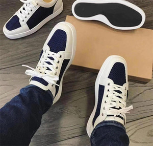 Wholesale Newest Red Bottom Designer Sneakers Junior Spikes Mens Trainers Flat Version Multi AC Seavaste Sneaker Low Top Wedding Party Shoes with BOX