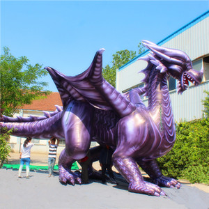 8m Length Giant Large Inflatable Chinese Dargon Inflatable Dragon Dino Inflatable Dinosaur Tyrannosaurus Rex for Parade Decoration