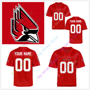 Wholesale Custom College Ball State Cardinals Jersey Jack Milas Riley Neal Caleb Huntley Malik Dunner Justin Hall