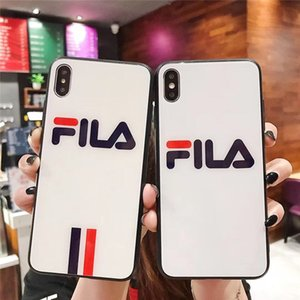 Wholesale 2019 NEW Fashion Brand For iphone X XS xsmax s plus Cell Phone Case Cover Glass Shell plus Protective Design