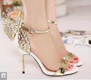 Women's High-heeled Sandals Beautiful Butterfly Wings Night club Shoes, Toe-Shoes, Fine Coloured Banquet party dress wedding banquet shoes