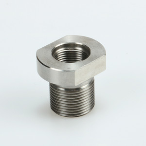 5 8-24 Male to 1 2-28 Female Thread Adapter Stainless Steel Suppressor Adapter, Shipping From USA