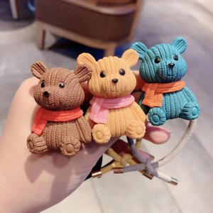 20190829 Net Red Cartoon Bear Cute Leather Ring on Sale