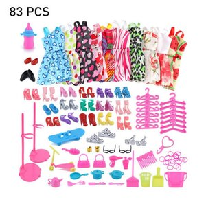 2019 Newest Dress Outfit Handmade Top Fashion Skirt Party Clothes Set With 10 PCS Skirts And 73PCS Dolls Accessories