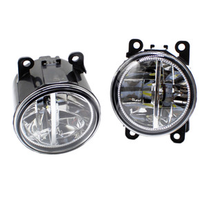2pcs Car Styling Round Front Bumper LED Fog Lights DRL Daytime Running Driving fog lamps For Peugeot 207 SW Estate WK_ 2007-2011 2012 on Sale