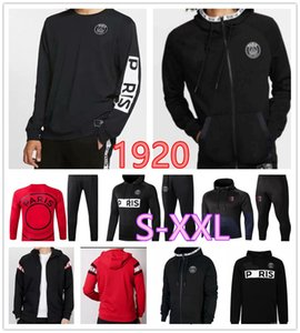 2019 men jacket soccer tracksuit 19 20 Hooded sweater Paris MBAPPE long sleeve training suit Football jacket kit S-XXL