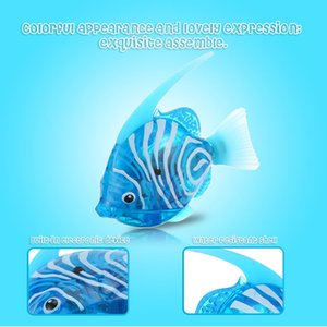 Wholesale Fancy Toys Electronic Robot Shining Swimming Electric Fish Toy Children Kids Playing Water Toy Aquatic Decor